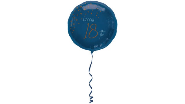 Folieballon Elegant True Blue 18 Jaar